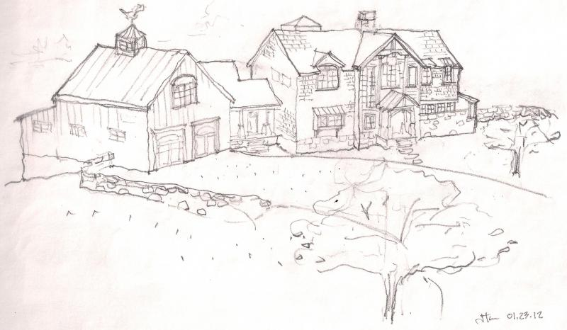 Lodge by the Lake - sketch impression